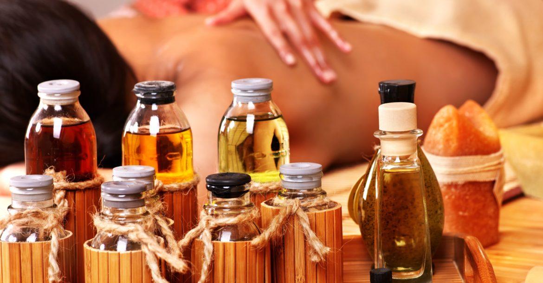 Massageöle und Massage